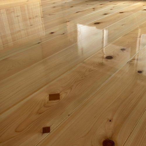 栃木県佐野市,室内腰壁・床・建具の塗装工事