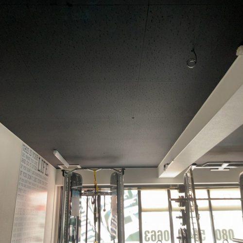 佐野市,ジム・スタジオの天井塗替え